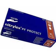 RĘKAWICE NITRYLOWE PROTECT/BASIC - ROZMIAR XL