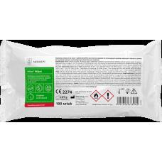 Velox Wipes - alkoholowe chusteczki do szybkiej dezynfekcji powierzchni sprzętu medycznego - 100 sztuk wkład