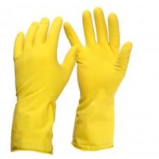 Rękawice kuchenne gumowe żółte - rozmiar S