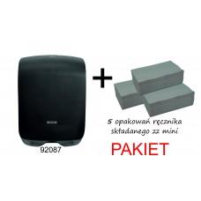 Pakiet 5 opakowań ręcznika zz mini + dozownik 92087