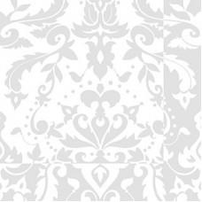 Serwetki Decosoft Victorian biała - 98294