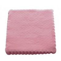 Serwetki gastronomiczne ząbkowane 15x15 cm - różowe